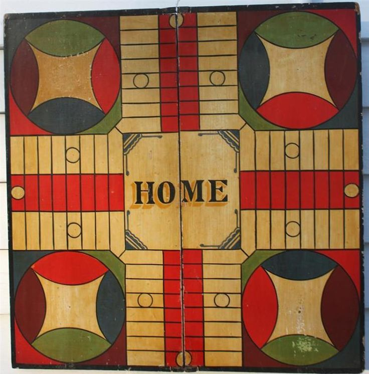 EXCEPTIONAL FOLDING PARCHEESI GAME BOARD Vintage games