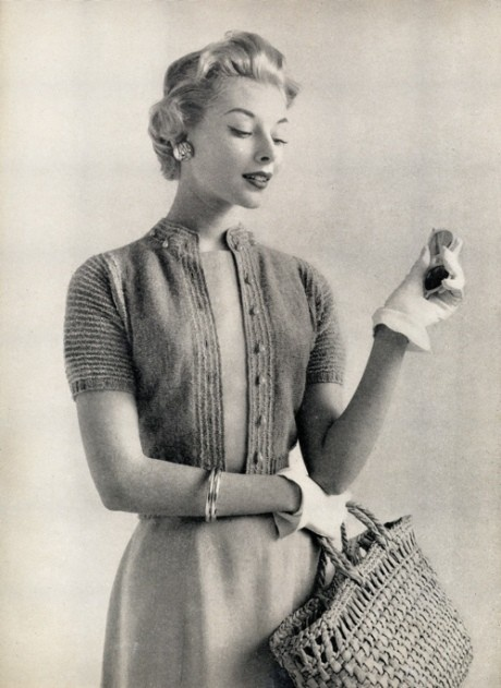 Vintage Knits: Short-sleeved Cardigan