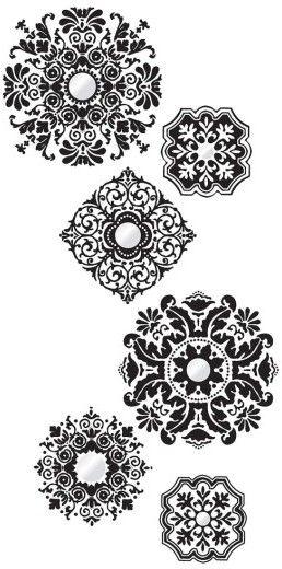 Wallpops Baroque 6-Piece Wall Art Decal Set