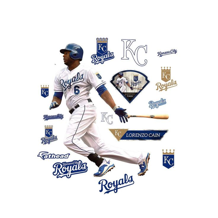 70 In H X 63 W Lorenzo Cain Wall Mural Multi