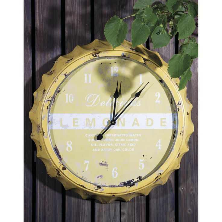 """PURCHASED! Indoor/Outdoor """"Lemonade"""" Clock 20"""" 