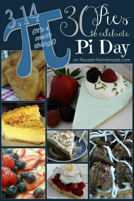 30 Pies for Pi Day   on HoosierHomemade.com