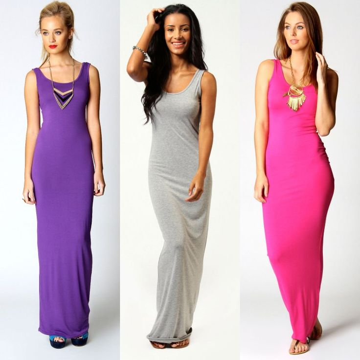Purple/Grey/Hot Pink long maxi summer dress 2014. I may look into maxis dresses this summer, if only I can find ones for my short petite frame.