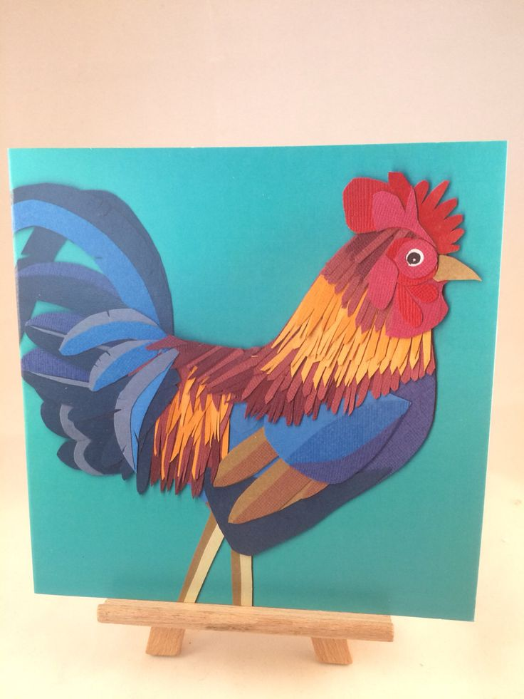 Cockerel card greetings card,  any occasion, blank greetings card by PaperlilacCo on Etsy https://www.etsy.com/uk/listing/497306716/cockerel-card-greetings-card-any