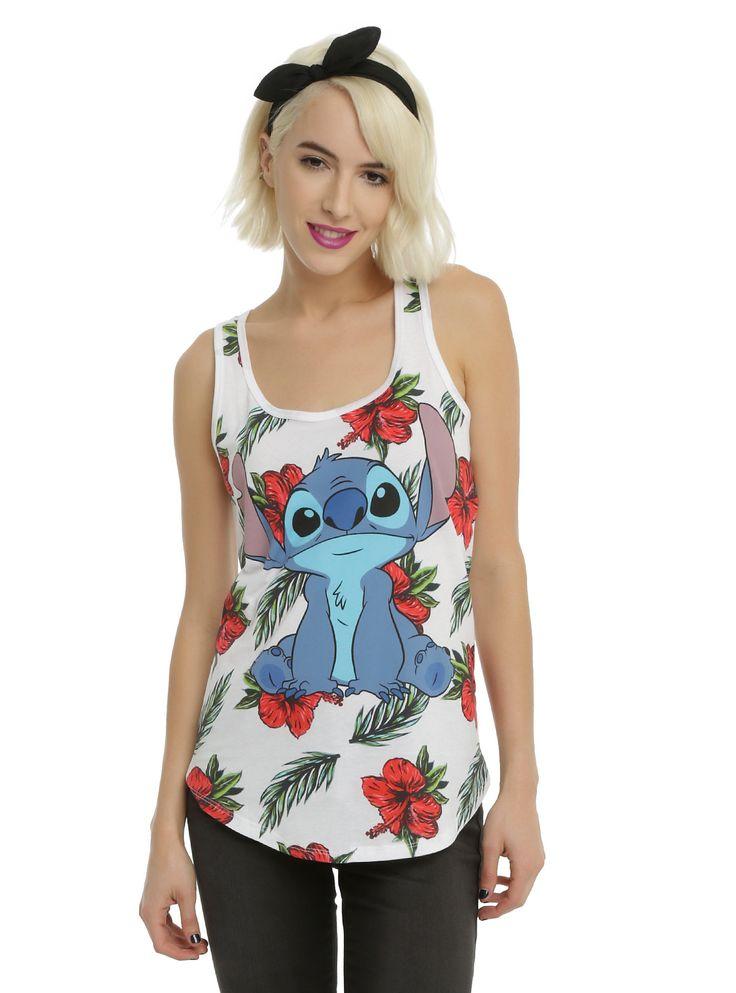 """Disney Lilo & Stitch """"Ready to Luau"""" Girls Tank Top"""