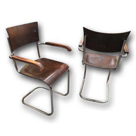 Chromové křeslo - Mart Stam, Mücke-Melder,   Chrome armchairs by Mücke-Melder