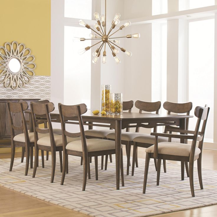 City Center Leg Dining Table Set By HGTV Home Furniture Collection