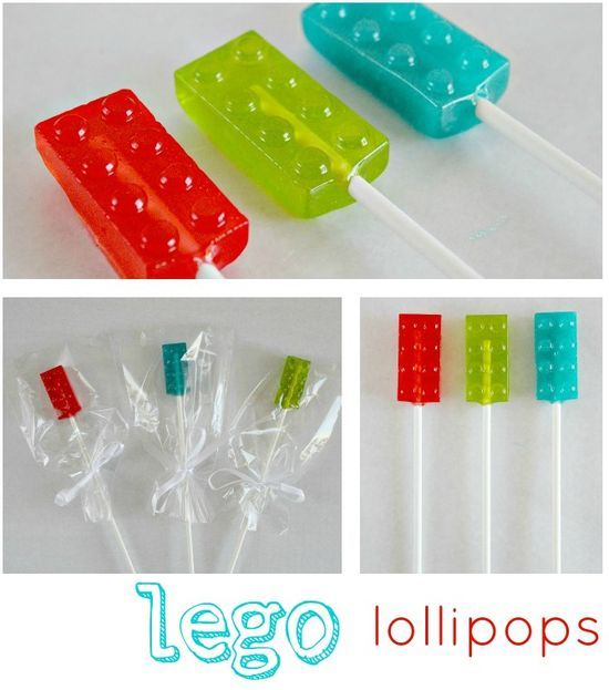 How to make Jolly Rancher LEGO lollipops. um, yes.... have a feeling we'll end up with a lego themed candy bar since we're not doing the dessert bar!