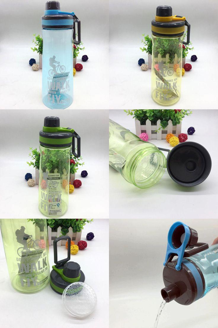 [Visit to Buy] 1000ML Portable Outdoor Sports Bottle Anti-explosion Cycling Hiking Climbing Cup Garrafa Agua Bolsa Bicycle Water Bottle U0081 #Advertisement