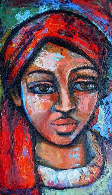 Paintings - ELIZABETH - AN ORIGINAL OIL PAINTING BY OVERBERG ARTIST CELESTE FOURIE-WIID for sale in Hermanus (ID:258628869)