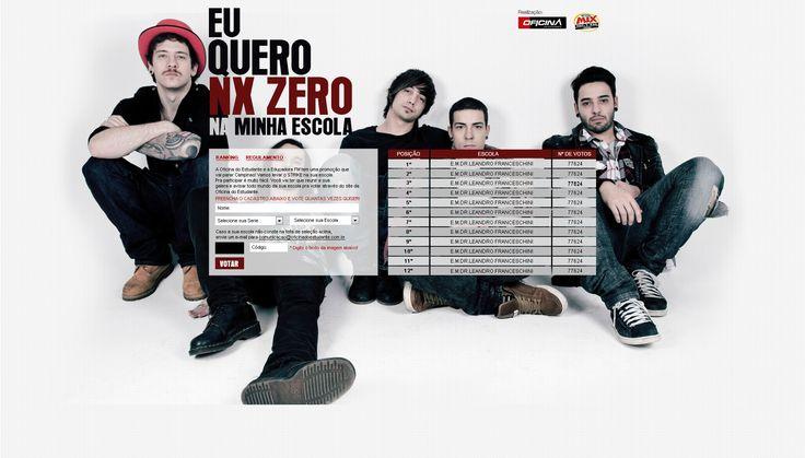 Hotsite para a Banda NXZero