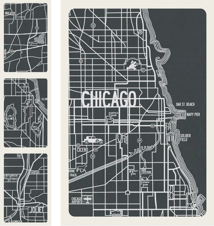 Apartment B Chicago 1930 vintage map Available