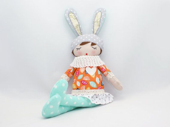Laura  Rag doll Soft doll Sleepy doll Handmade by PatchworkModa