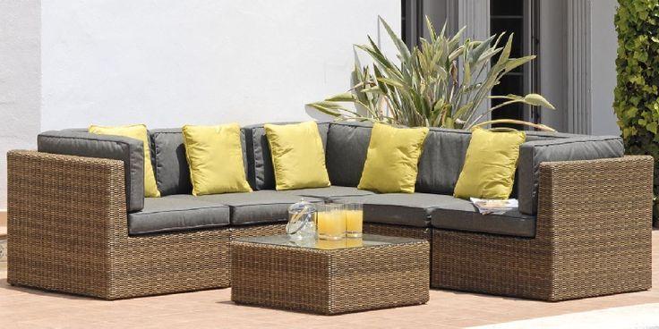 5 Seater Rattan Corner Sofa Set