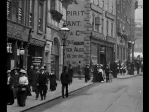 Nottingham in August 1902; video clip taken from the Lost World of Mitchell & Kenyon