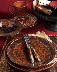Charming This Animal Print Inspired Tablesetting~French Madame
