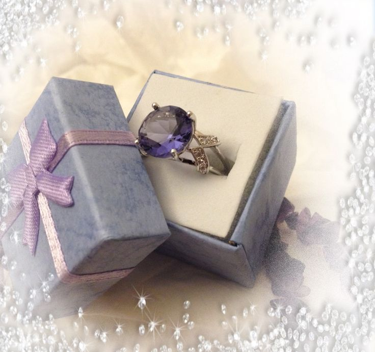 Amethyst (CZ) solitaire ring for just $15.00.  ORDER HERE....... https://goo.gl/csoijN   18k white gold silver plated fashion ring. Amazing quality and shine, it brings alive any clothing you wear and in the larger sizes enhances you hands with its large solitaire ring. Purple combines the stability of the blue color and the energy of the red. Through the ages, purple has always been associated with royalty, nobility and prestige.This color relates to the imagination and spirituality. It…