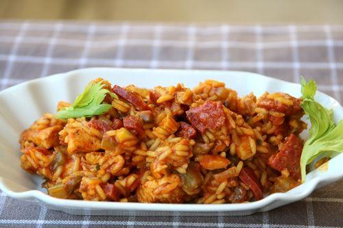 1 pans rijst gerecht met bleekselderij, tomaat, paprika, kip en chorizo - De keuken van Ursie