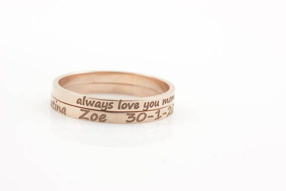Coordinates Ring Longitude Latitude Ring Personalized Ring