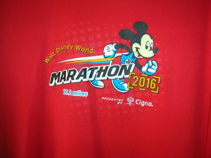 Size M Mickey Mouse  Walt Disney World  Marathon Double Dry 2016 NEW #Champion