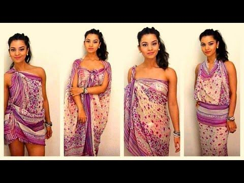 How to tie and style your sarong / pareo in 11 different ways - dianasaid.com - YouTube