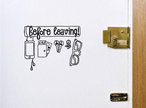 Adhesivo de pared lista de cosas por tomar antes macharse Vinilo decorativo por Antoine Tesquier Tedeschi en AllPosters.es