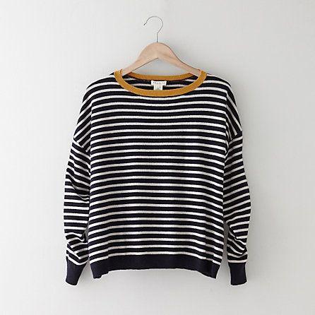 Striped Alexa Cashmere Sweater / demylee