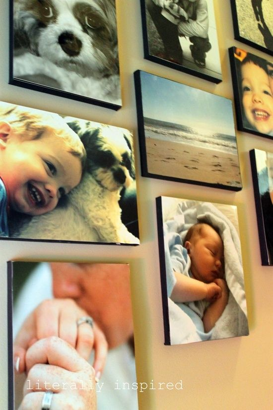 I can't believe how simple this sounds, Heck of alot cheaper than getting them made:) DIY canvas photos... super easy!