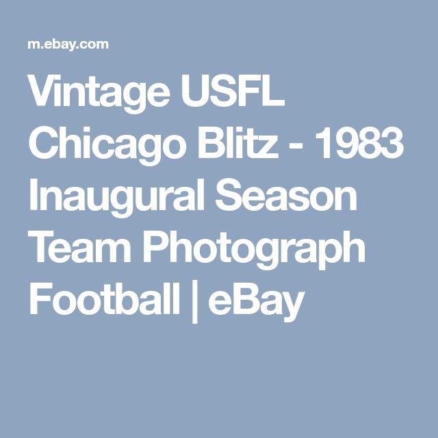 Vintage USFL Chicago Blitz - 1983 Inaugural Season Team Photograph Football | eBay