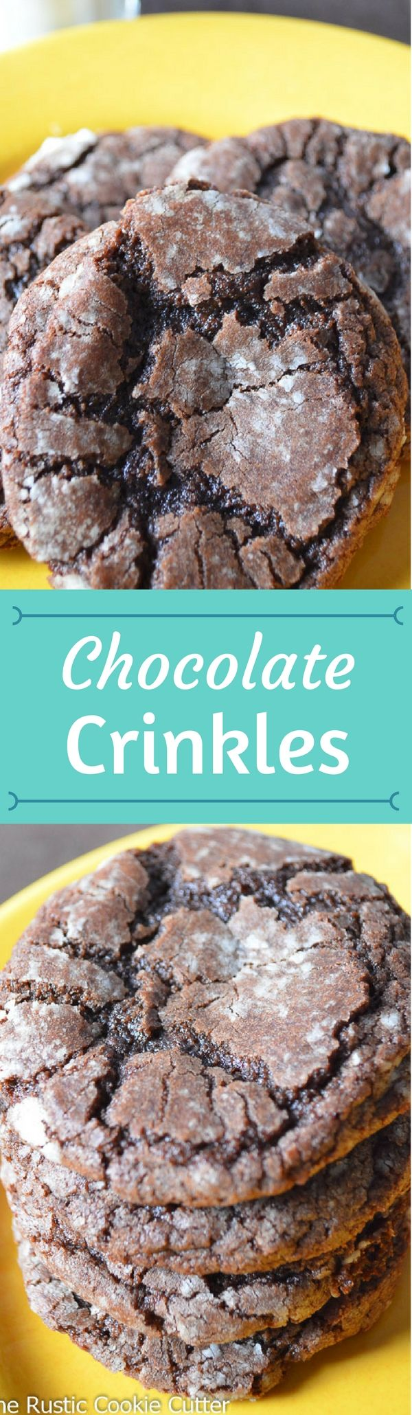 These Chocolate Crinkle Cookies are so chewy with the slightest crunch from the powdered sugar-coating.  And they're not overly rich.
