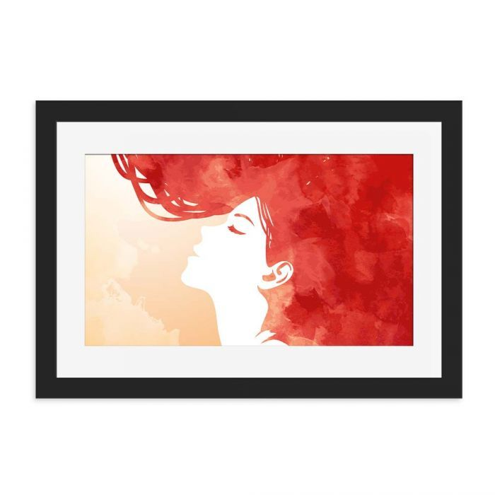 Red Head Watercolour Black Framed Wall Art Print. - Discover cool framed art prints for your home or office from our online shop Love Cool Gifts, a specialist gift shop with framed wall art for any room, gift ideas with unique designs.  #homedecor  #art   #homestyle     #lovecoolgifts   #home