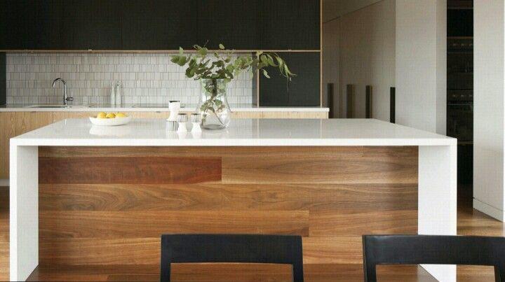 Island bench. More kitchen inspiration www.coastallife.net.au