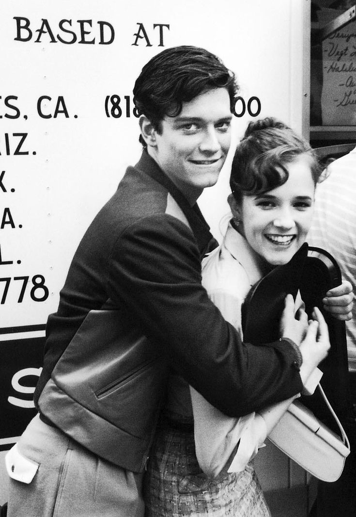 "Eric Stoltz with Lea Thompson on the set of Back To the Future, 1984 "" Originally cast as Marty McFly for Back to the Future in late 1984, he was replaced after about a month of filming when Michael..."