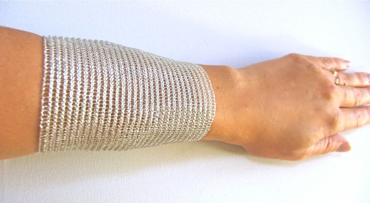 Adjustable silver cuff bracelet /  Extra wide cuff / Metal silver  cuff/ For Her/ Gift/ Schick by KvinTal on Etsy