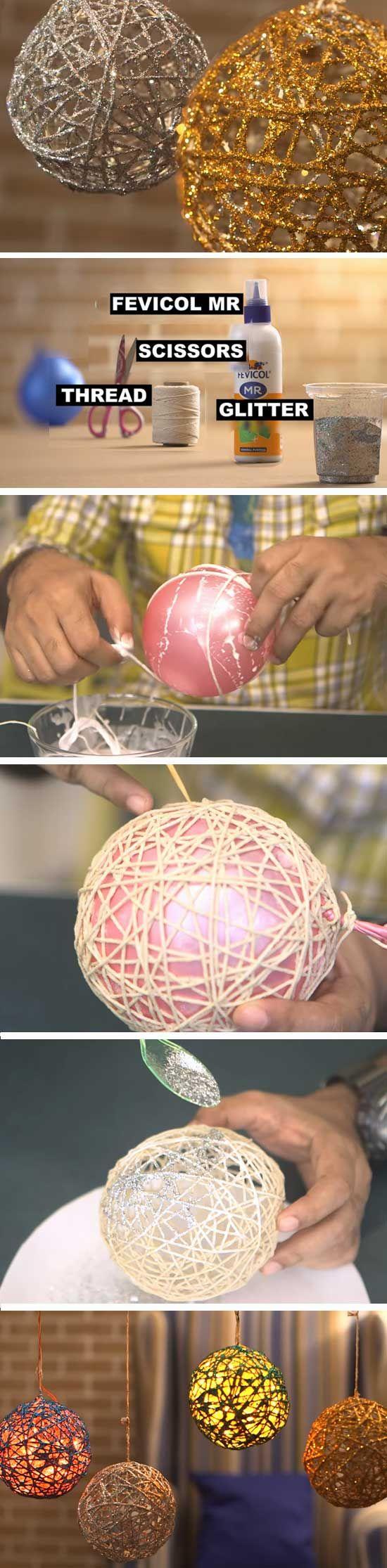 Glitter Balloon Orbs | DIY Christmas Decor Ideas Dollar Store