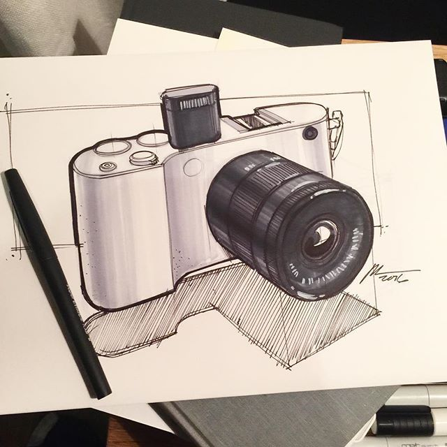 "Spencer Nugent - ""Working on a sketch for a fan. Nice getting back to pen and paper for a bit. #sketchaday #leica #pen #art #idsketching #marker #copicmarker #copic #camera"""
