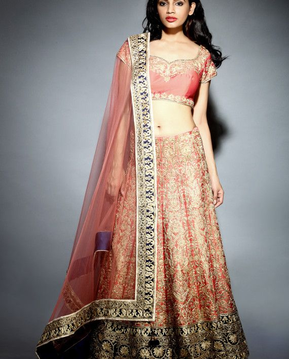 Veer Design Studio | Not only is this Maharani Coral Lehenga gorgeous, its priced at Rs.60000