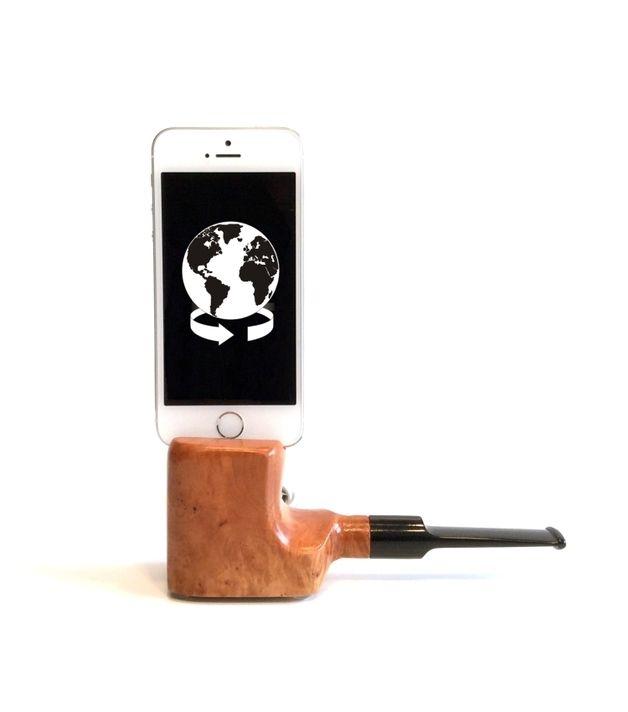 Handy-Zubehör - Dockingstation Bruyere Pfeife für ein iPhone 5 - ein Designerstück von STATION4YOU bei DaWanda