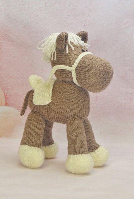Horse Knitting Pattern, Horse Knit Pattern, Pony Toy