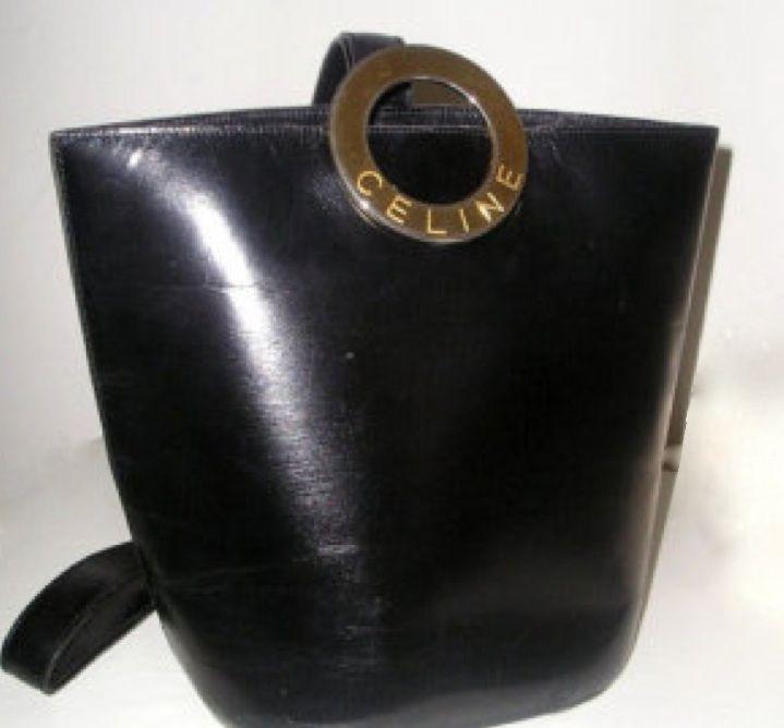 70\u0026#39;s Celine leather bucket bag. | Accessories | Pinterest | Bucket ...