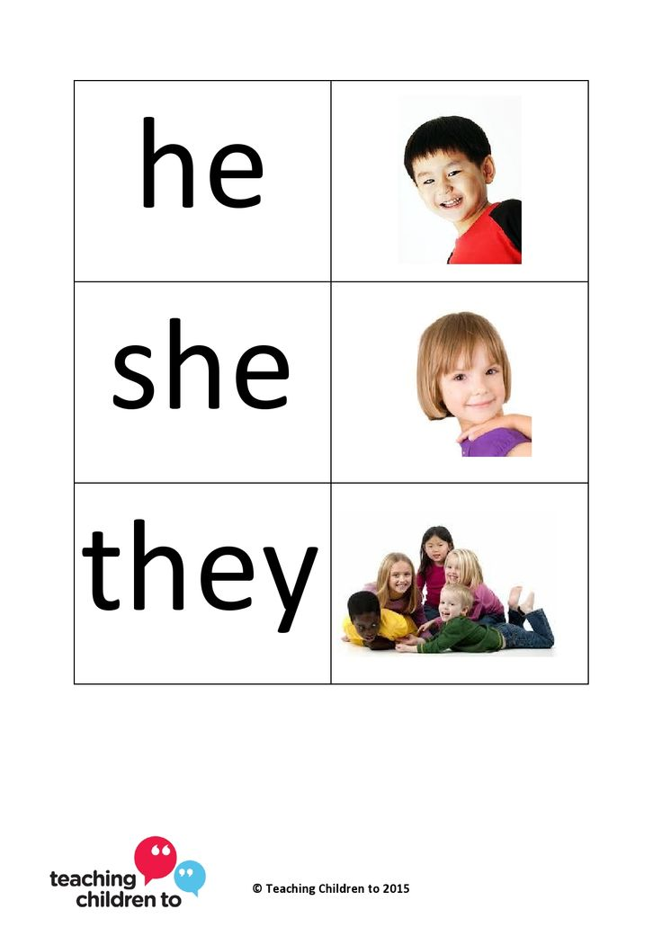 Visual support for pronouns - child pictures