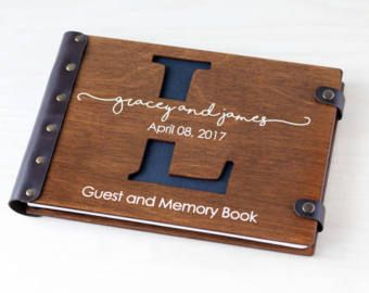 Monogram Guest Book, Wedding Guest Book, Guest Book, Custom Guest Book, Wedding Guestbook, Wood Guest Book, Rustic Guest Book, Wedding