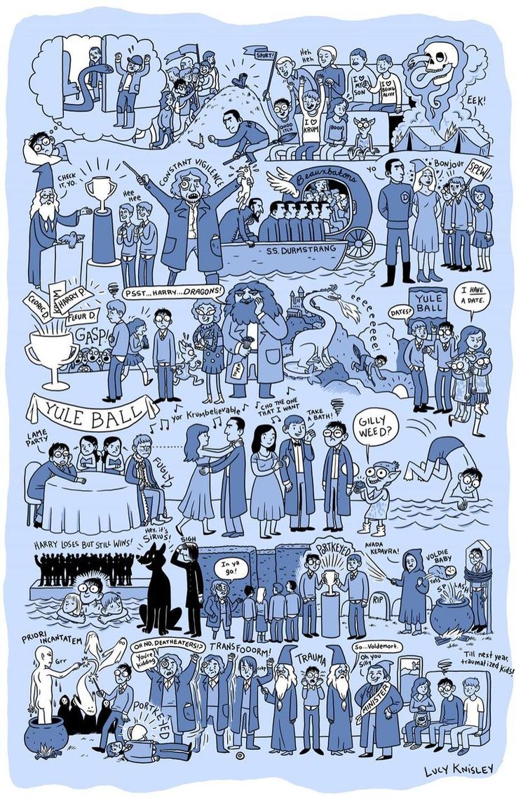 This Artist Summarizes Each Harry Potter Book Into A Poster. The Result Is Amazing!