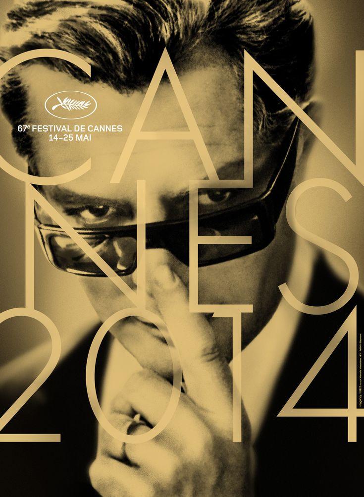 The 67th Festival poster with Marcello Mastroainni in Federico Fellini's 8 1/2.  Portrait.