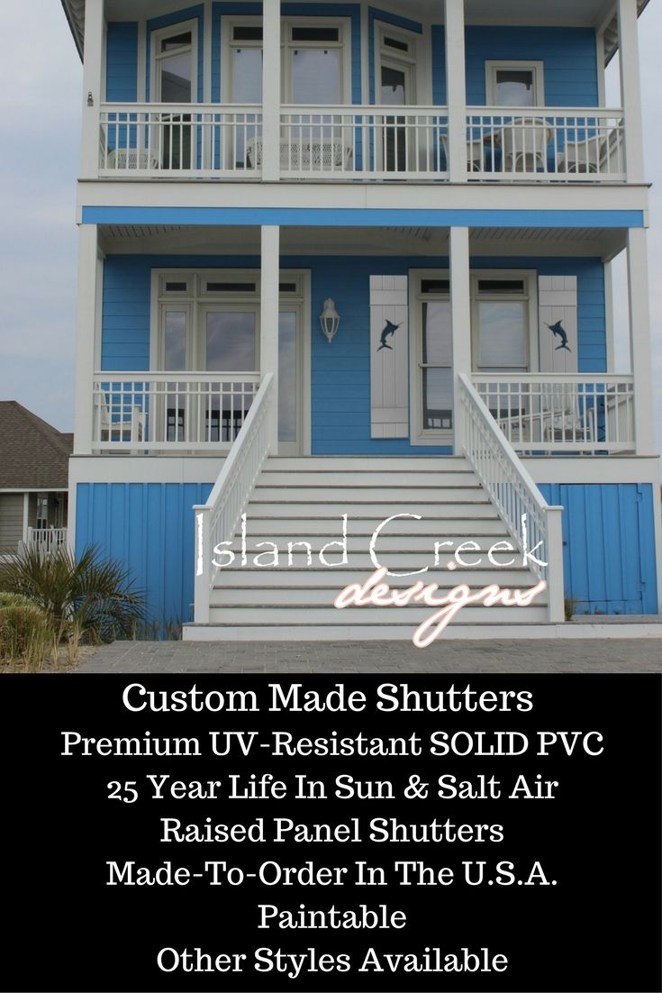 Exterior Vinyl Shutters W Optional Nautical Cutouts Marlin Palm Tree Sailfish Sailboat Seaside Cottage