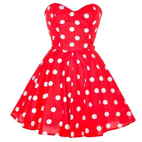 Red Polka Dot Party Dress