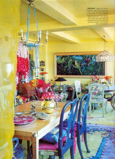 blue dining chairsHome Interiors, Elle Decor, Betseyjohnson, Living Room Design, Fashion Design, Interiors Design, Betsey Johnson, Modern Interiors, Design Home