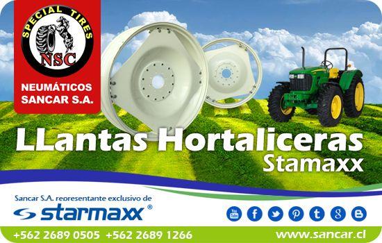 LLantas Hortaliceras Starmaxx para tractor Agrícola Representante Exclusivo en Chile de Starmaxx Neumáticos Sancar, Todos en un solo lugar. http://www.sancar.cl/ | ventas@sancar.cl +56226890505 | +56226891266