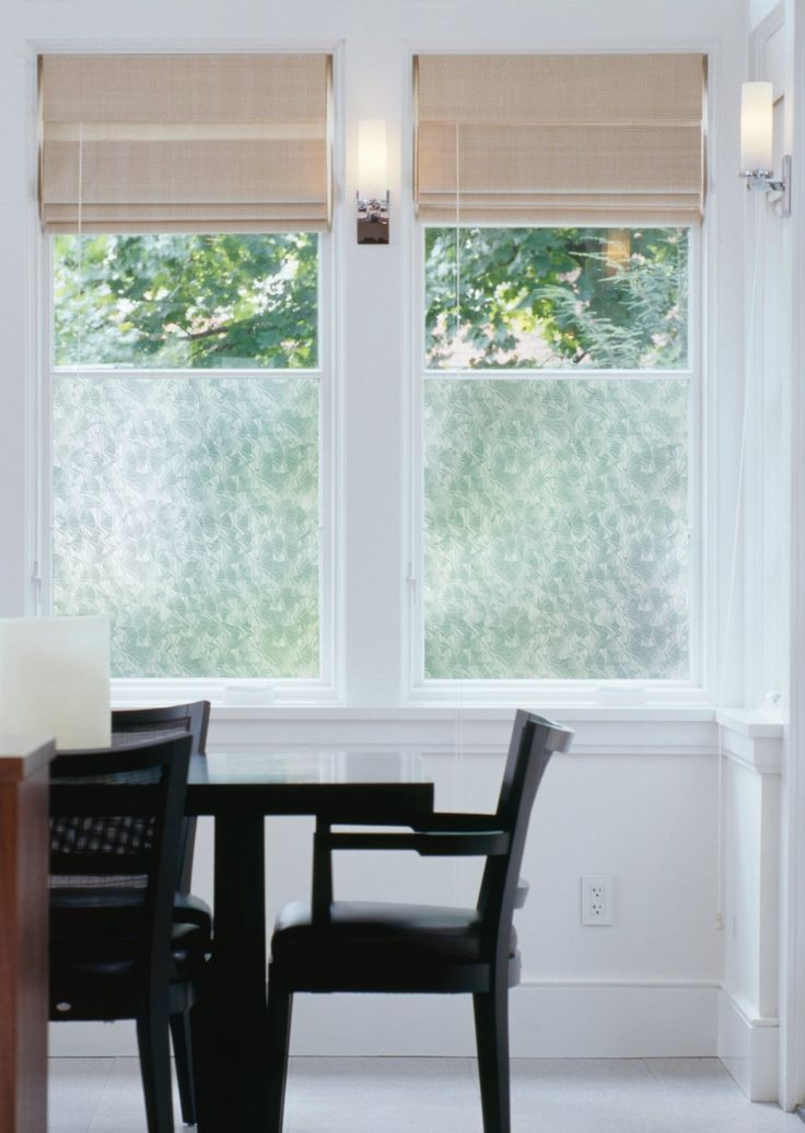 Ice freeze self adhesive window film by dc fix provides a decorative treatment for glass doors