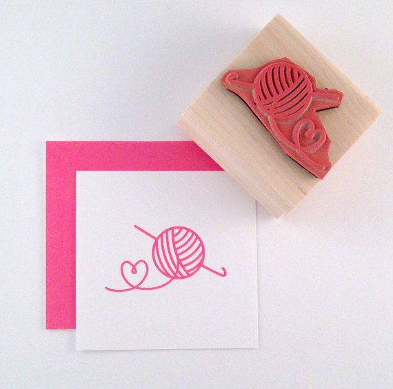 Crochet Love Rubber Stamp by cupcaketree on Etsy, $6.00